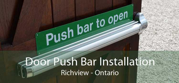 Door Push Bar Installation Richview - Ontario